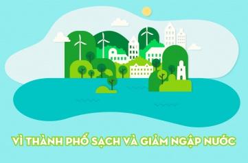 """Phát động Cuộc vận động """"Người dân Thành phố Hồ Chí Minh không xả rác ra đường và kênh rạch, vì Thành phố sạch và giảm ngập nước"""""""